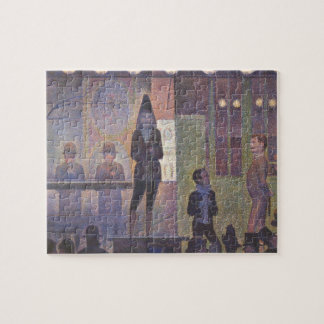 Circus Sideshow by Georges Seurat, Vintage Art Jigsaw Puzzle