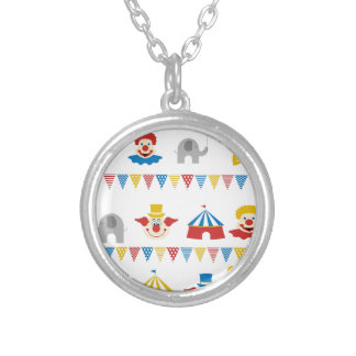 Circus Silver Plated Necklace