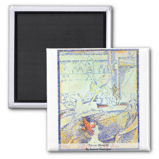 Circus (Sketch) By Seurat Georges Magnet