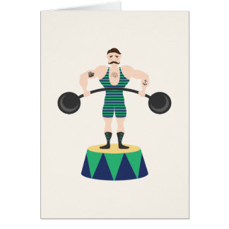 Circus Strongman Card