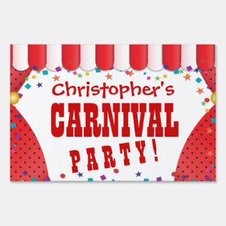 Circus Tent Carnival Birthday Personalized Sign