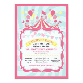 Circus Tent Carnival Invitation