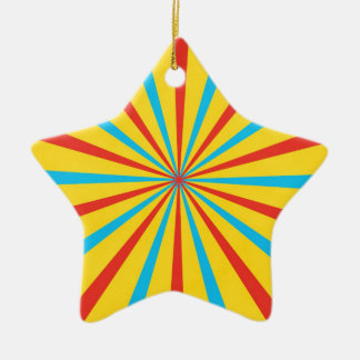 Circus Tent Pattern Ceramic Ornament