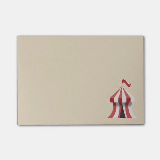Circus tent post-it notes