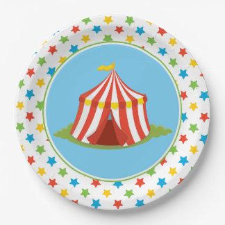 Circus Theme | Big Top | Circus Tent Paper Plate