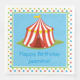 Circus Theme | Circus Tent | Personalized Disposable Napkins