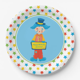 Circus Theme | Clown | Personalized Paper Plate