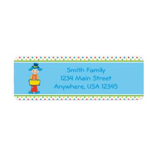 Circus Theme   Clown    Personalized Return Address Label