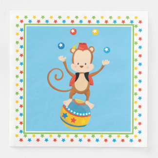 Circus Theme | Monkey | Personalized Disposable Napkin