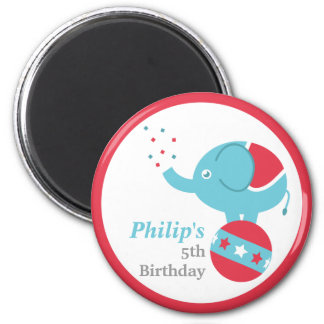 Circus Themed Birthday Party Favor with Elephant Magnet