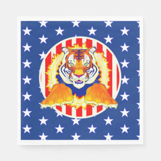 Circus Tiger party napkins