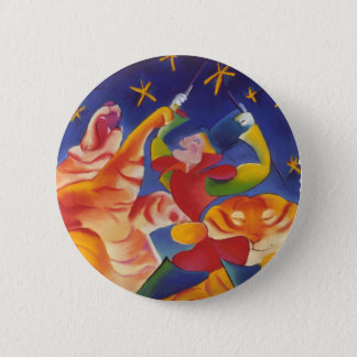Circus Tigers 2 Inch Round Button