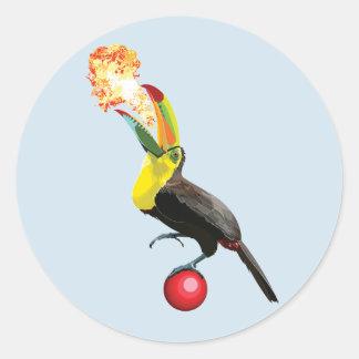 ~Circus Toucan~ Classic Round Sticker