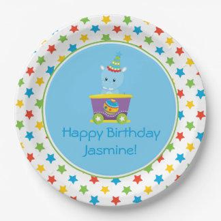 Circus Train   Hippo   Personalized Paper Plate