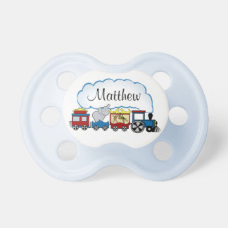 Circus Train with Name Baby Pacifier