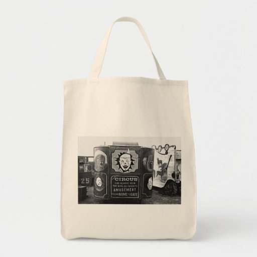 Circus Wagon Vintage 1937 Montana Photo Tote Bags