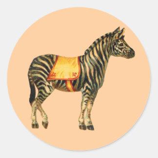 Circus Zebra Sticker