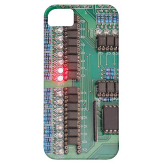 Circut Board with LED image, iPhone 5 case