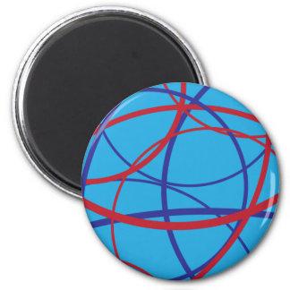 Cirkar Allegro: Aqua 2 Inch Round Magnet
