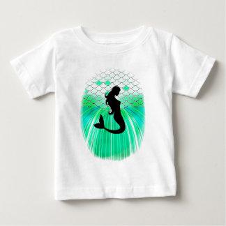 cirlce mermaid silhouette baby T-Shirt