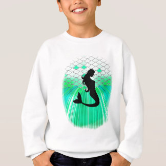 cirlce mermaid silhouette sweatshirt