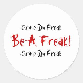 Cirque Du Freak, Be A Freak!, Cirque Du Freak Classic Round Sticker