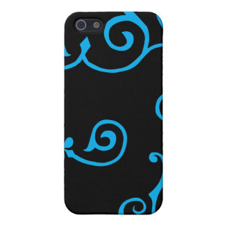 Cirrus Ebony (Cyan) iPhone Case iPhone 5/5S Cases