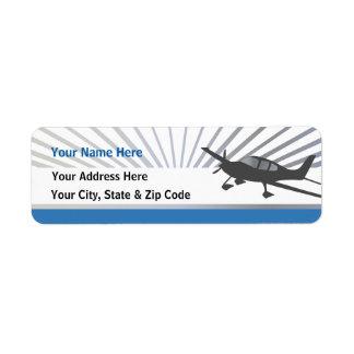 Cirrus SR22 Return Address Label