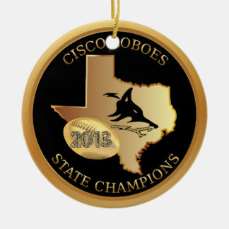 Cisco Loboes State Champions ornament personalize