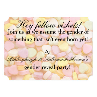 Cishet Gender Reveal Party Card