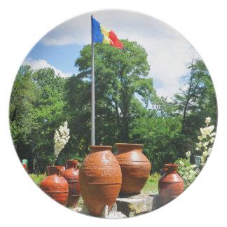 Cismigiu Park in Bucharest, Romania Plate
