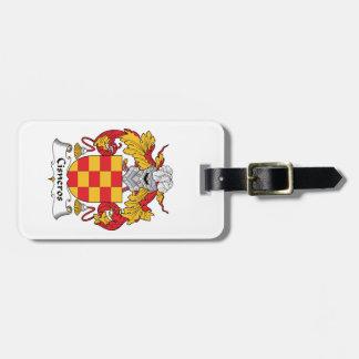 Cisneros Family Crest Luggage Tag