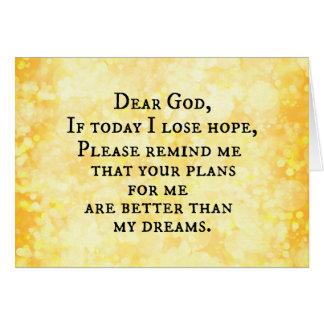 Citation chrétienne inspirée : Cher Dieu Carte De Vœux