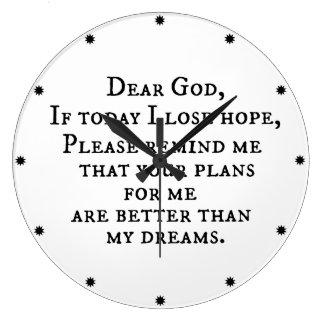Citation chrétienne inspirée : Cher Dieu Horloge