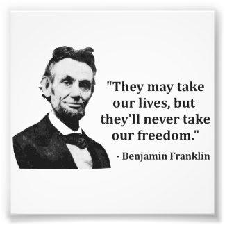 Citation d Abraham Lincoln Troll Tirage Photo