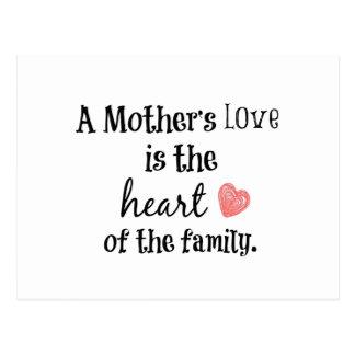 Citation d'amour de maman cartes postales