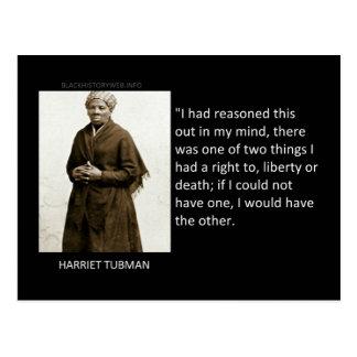 Citation de Harriet Tubman Carte Postale