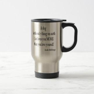 Citation vintage de l'amour de chien de mug de voyage en acier inoxydable