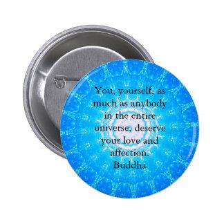 Citations bouddhistes de chant religieux de macaron rond 5 cm