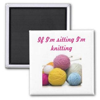 Citations de tricotage magnet carré