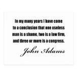 Citations politiques par John Adams Cartes Postales