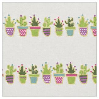 Cite cactus design with custom background color fabric