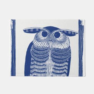 Cite Modern Owl In Blue Doormat
