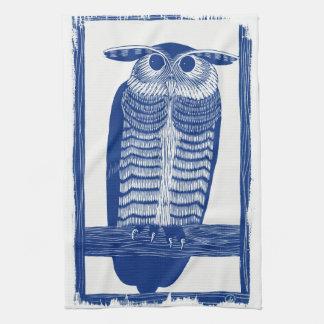 Cite Modern Owl In Blue Kitchen Towel
