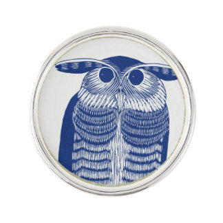 Cite Modern Owl In Blue Lapel Pin