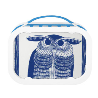 Cite Modern Owl In Blue Lunch Box
