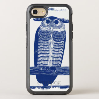 Cite Modern Owl In Blue OtterBox Symmetry iPhone 8/7 Case