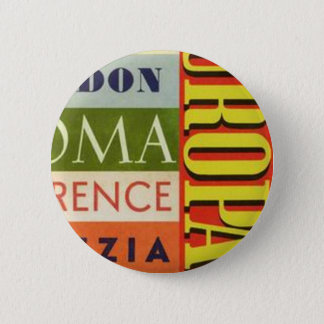 Cities of Europe 2 Inch Round Button