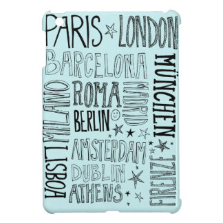 Cities of Europe Chic Modern Typography City Gifts Case For The iPad Mini