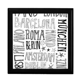 Cities of Europe Chic Modern Typography City Gifts Gift Box